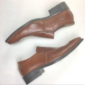 Italiano Men's Leather Cognac Shoes Size 9.